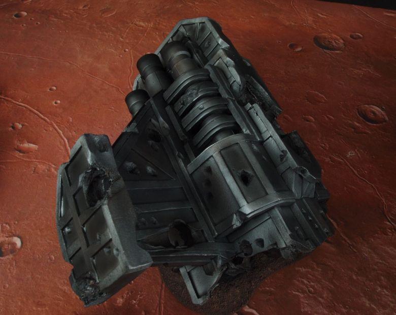 Warhammer 40k terrain wrecked cruiser engines wing 5