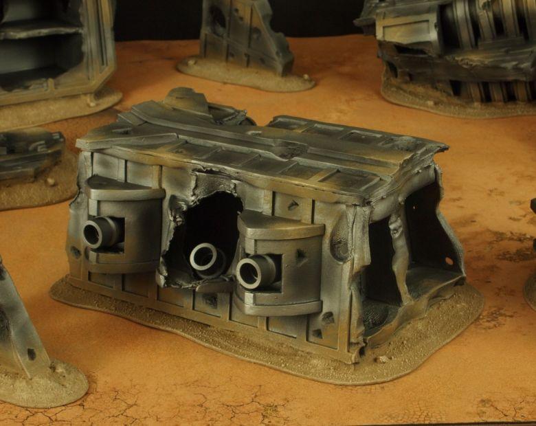 Warhammer 40k terrain wrecked cruiser gundeck 1 1