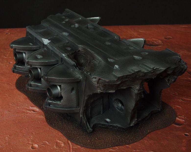 Warhammer 40k terrain wrecked cruiser gundeck 1
