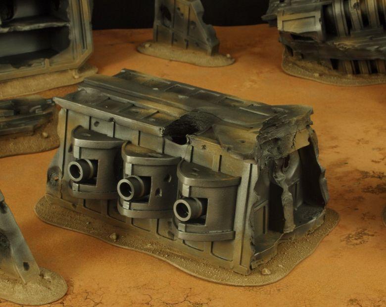 Warhammer 40k terrain wrecked cruiser gundeck 2 1