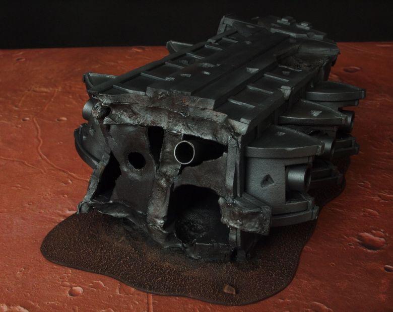 Warhammer 40k terrain wrecked cruiser gundeck 2