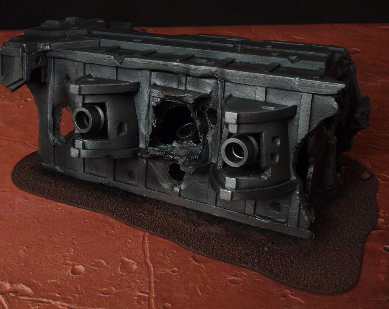 Warhammer 40k terrain wrecked cruiser gundeck 3