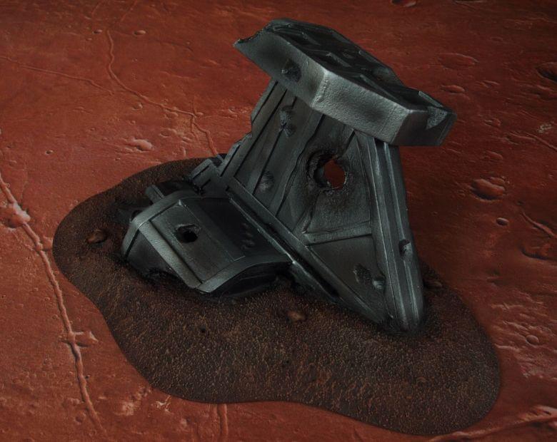 Warhammer 40k terrain wrecked cruiser wing 1