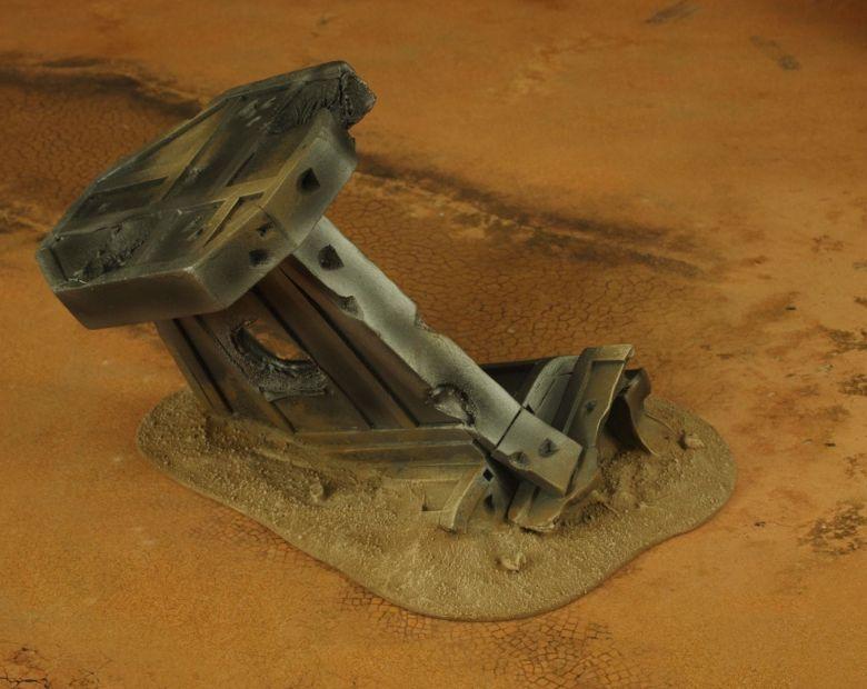 Warhammer 40k terrain wrecked cruiser wing 2 1