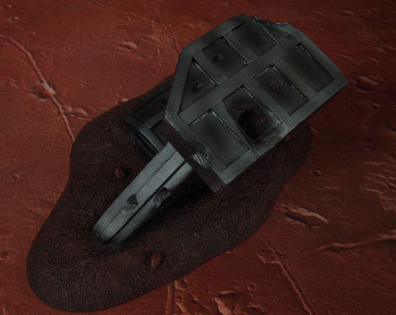 Warhammer 40k terrain wrecked cruiser wing 2