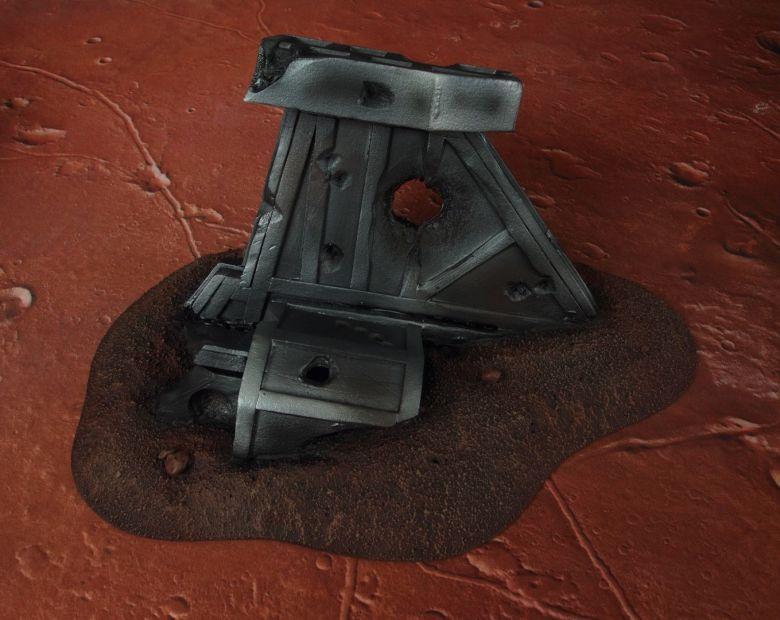 Warhammer 40k terrain wrecked cruiser wing 4