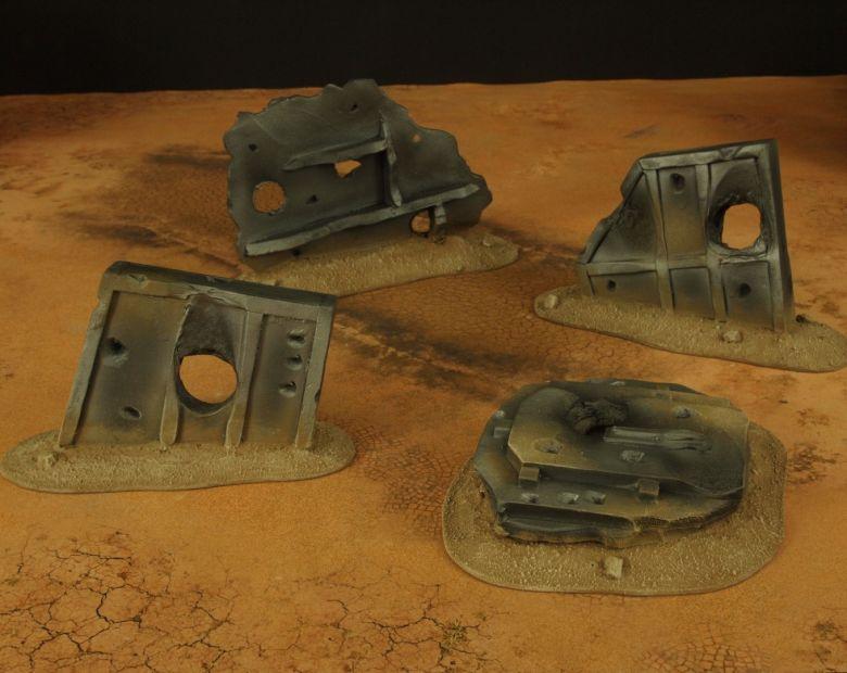 Warhammer 40k terrain wrecked cruiser wings 2 1