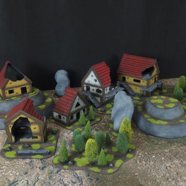 Fantasy terrain set 3 - WargameTerrainFactory - Miniatures War Game Terrain & Scenery