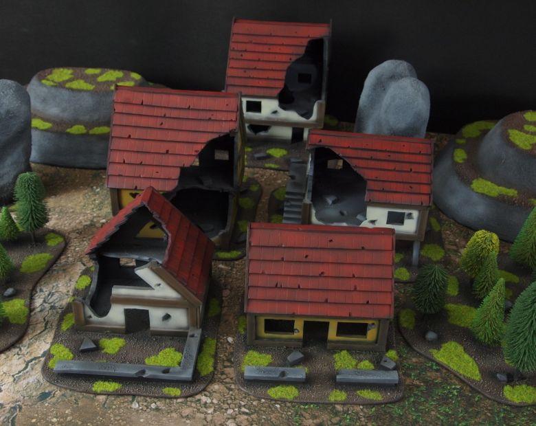 Warhammer fantasy sigmar terrain set houses 1 2