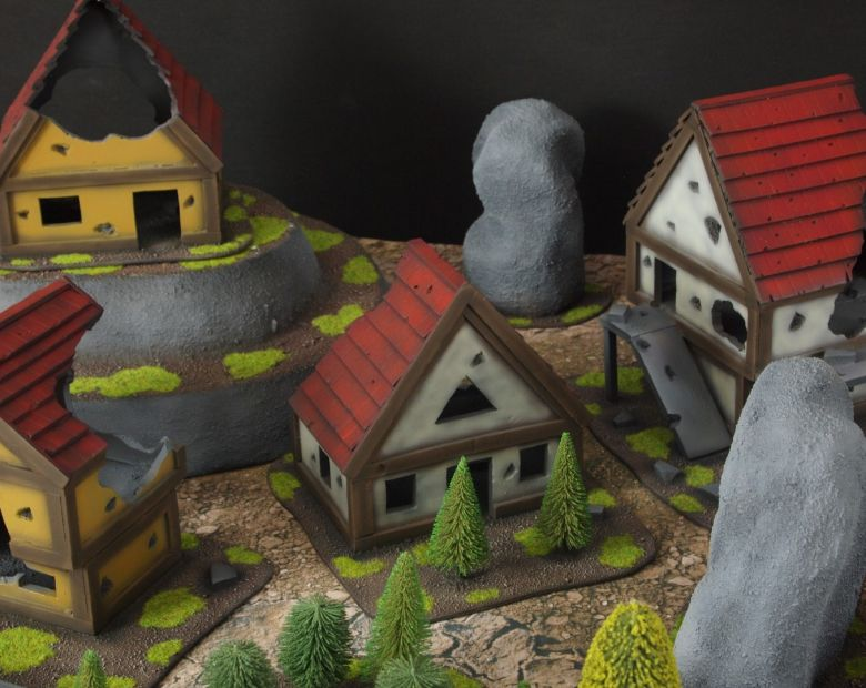 Warhammer fantasy sigmar terrain set houses 1