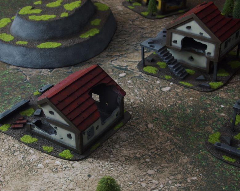 Warhammer fantasy sigmar terrain set houses 2 1