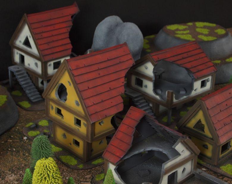 Warhammer fantasy sigmar terrain set houses 2 2