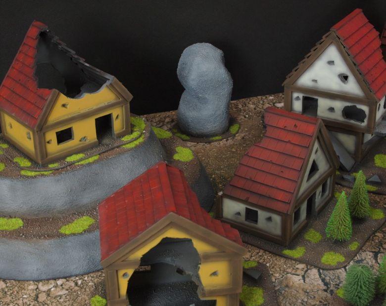 Warhammer fantasy sigmar terrain set houses 2
