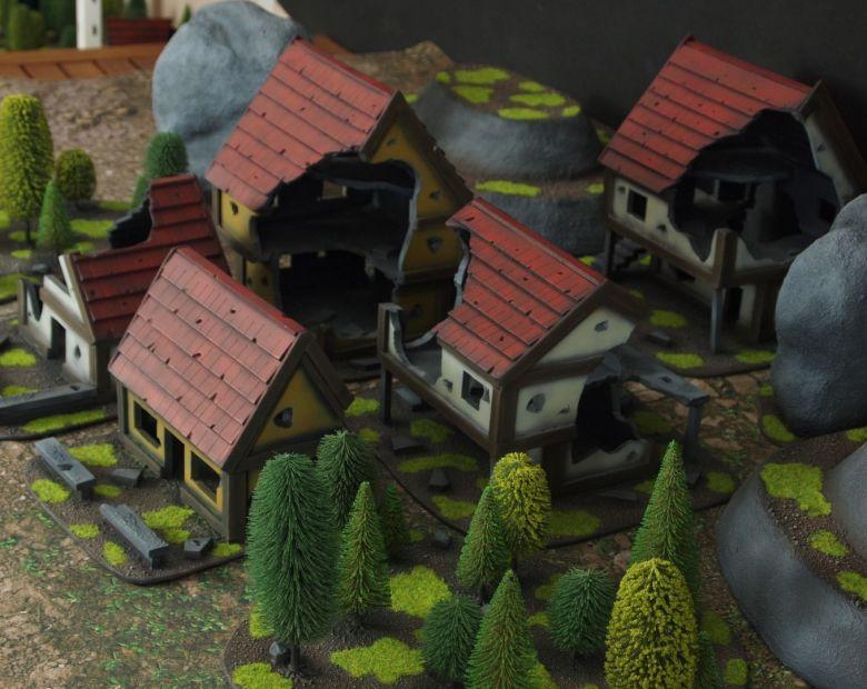 Warhammer fantasy sigmar terrain set houses 3 1