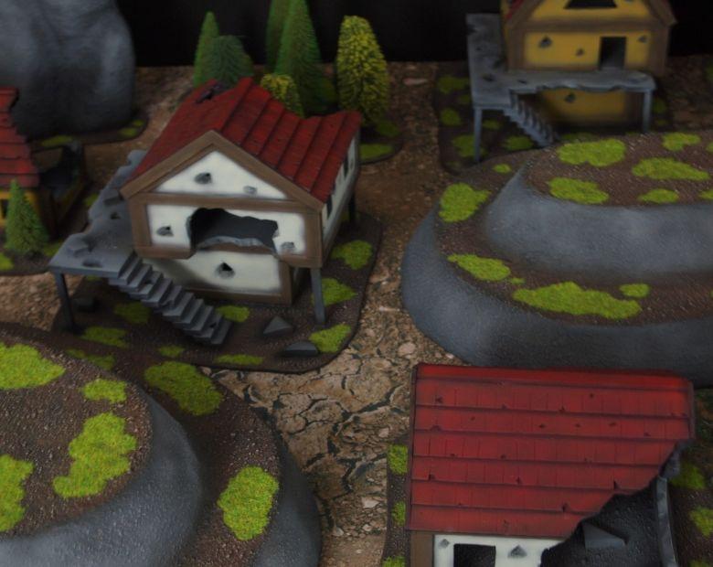 Warhammer fantasy sigmar terrain set houses 3