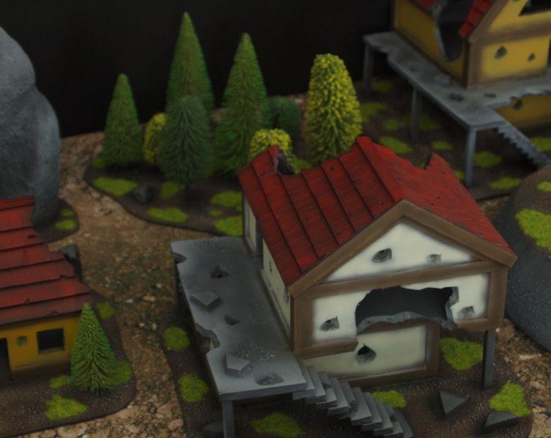 Warhammer fantasy sigmar terrain set houses 5