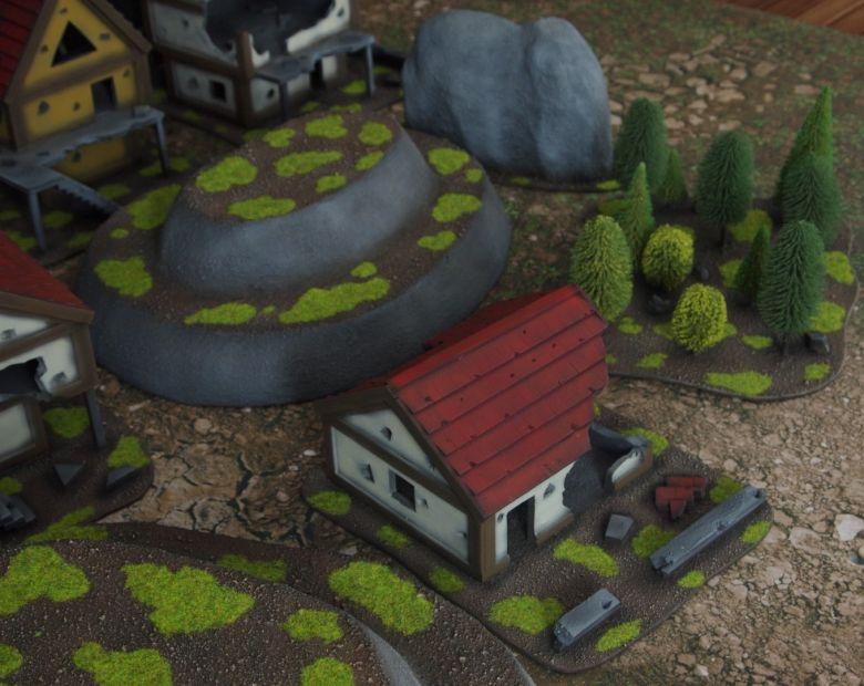 Warhammer fantasy sigmar terrain set houses 6