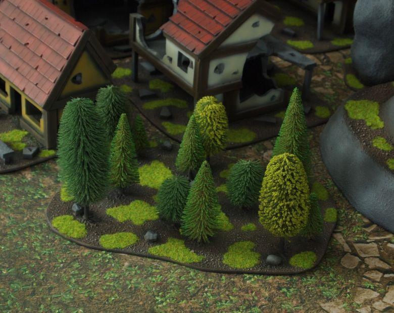 Warhammer fantasy sigmar terrain set woods 1 2